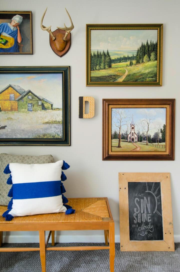 DIY Rustic Photo Wall