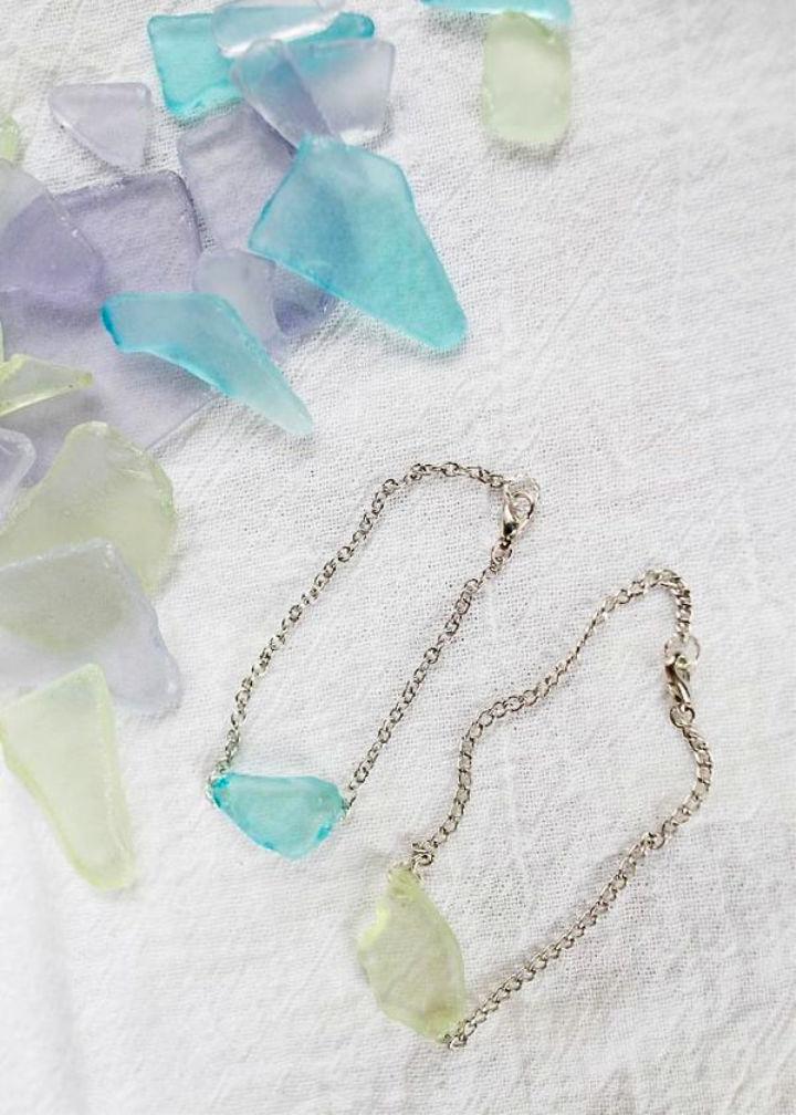 DIY Sea Glass Bracelet Earrings
