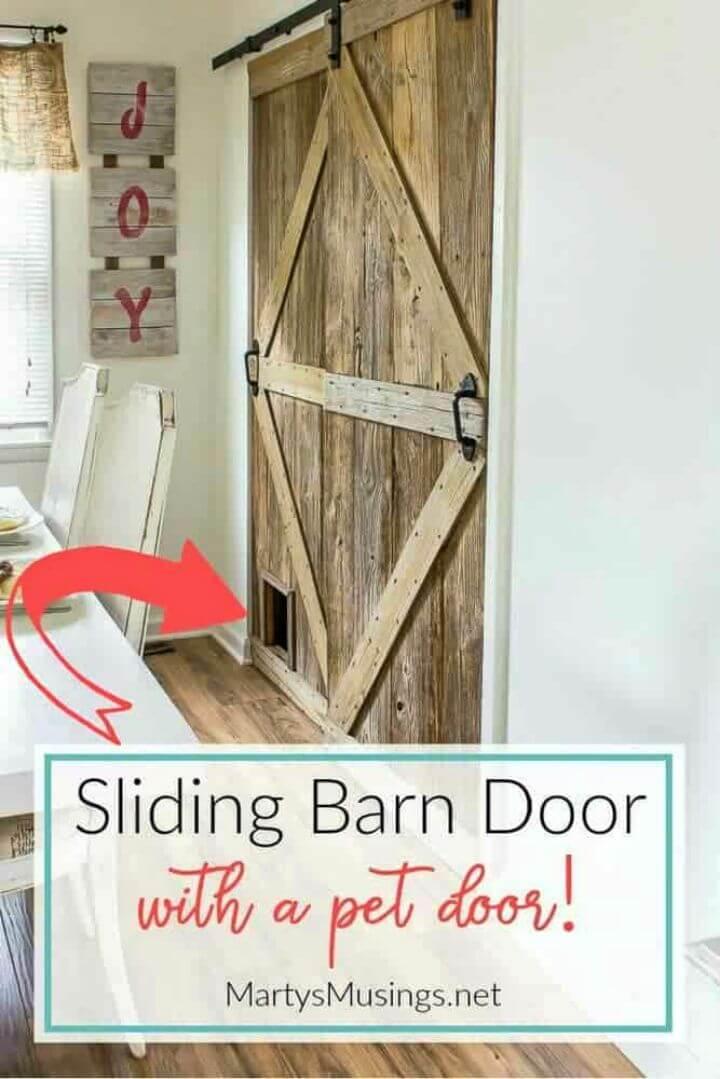 DIY Sliding Barn Door With Pet Door