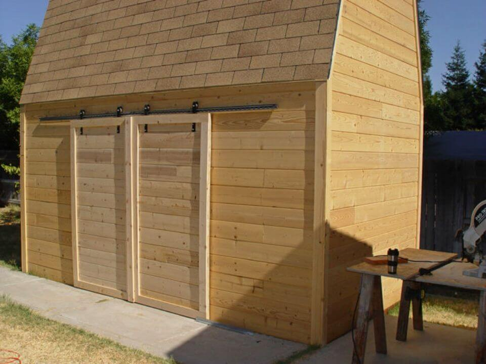DIY Sliding Barn Doors Using Skateboard Wheels
