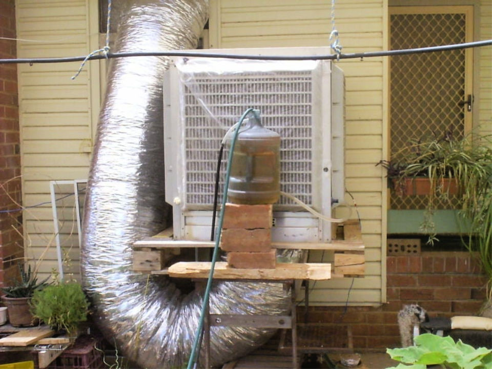 DIY Solar Evaporative Cooler