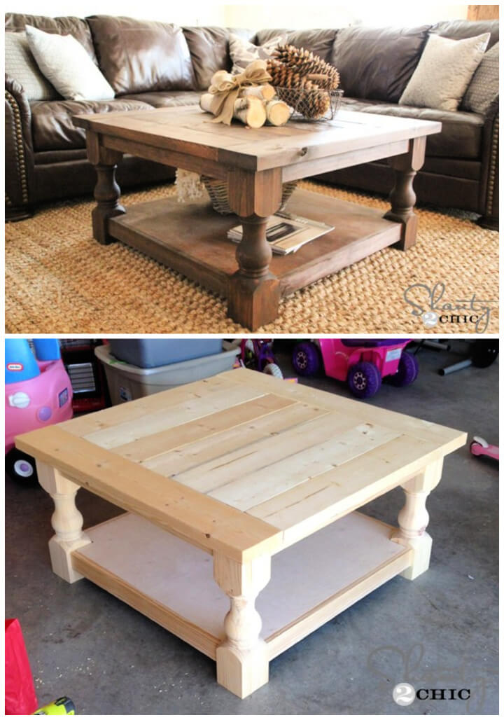 DIY Square Coffee Table