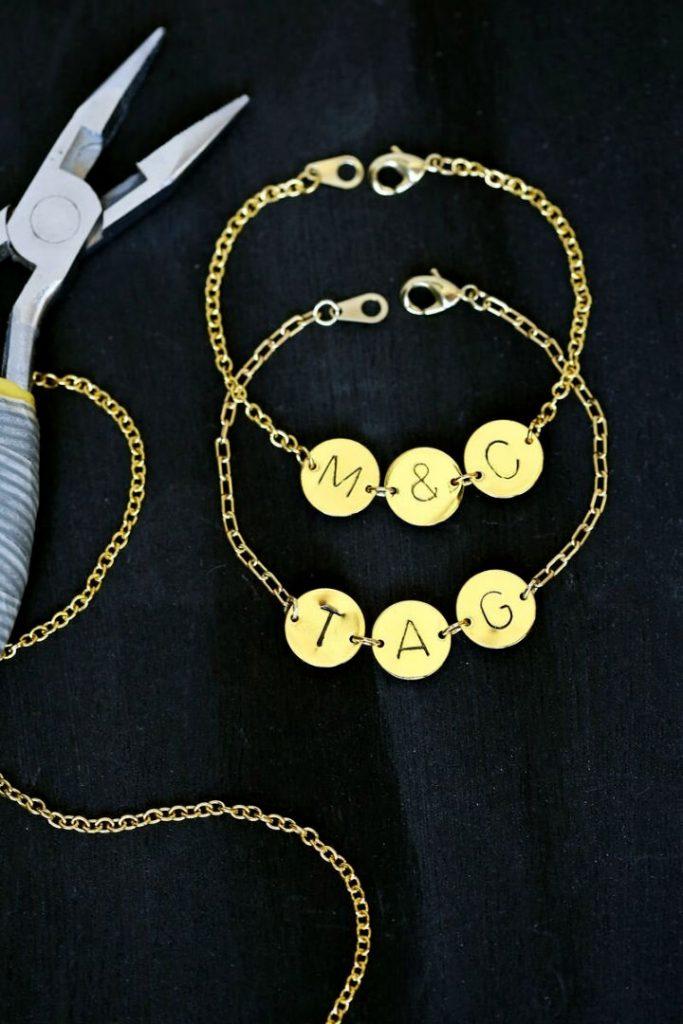 DIY Stamped Initial Bracelet