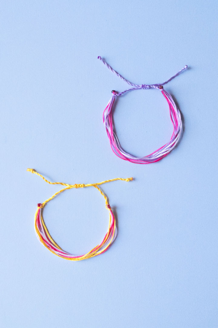 DIY String Friendship Bracelets
