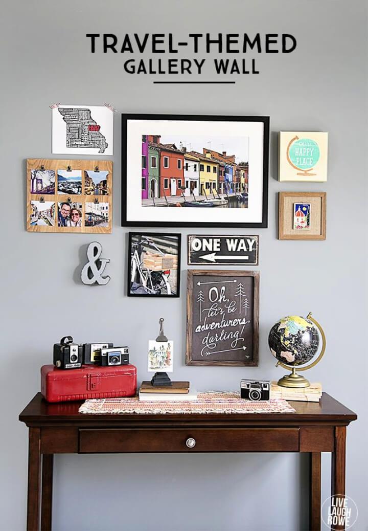 DIY Travel Themed Gallery Wall
