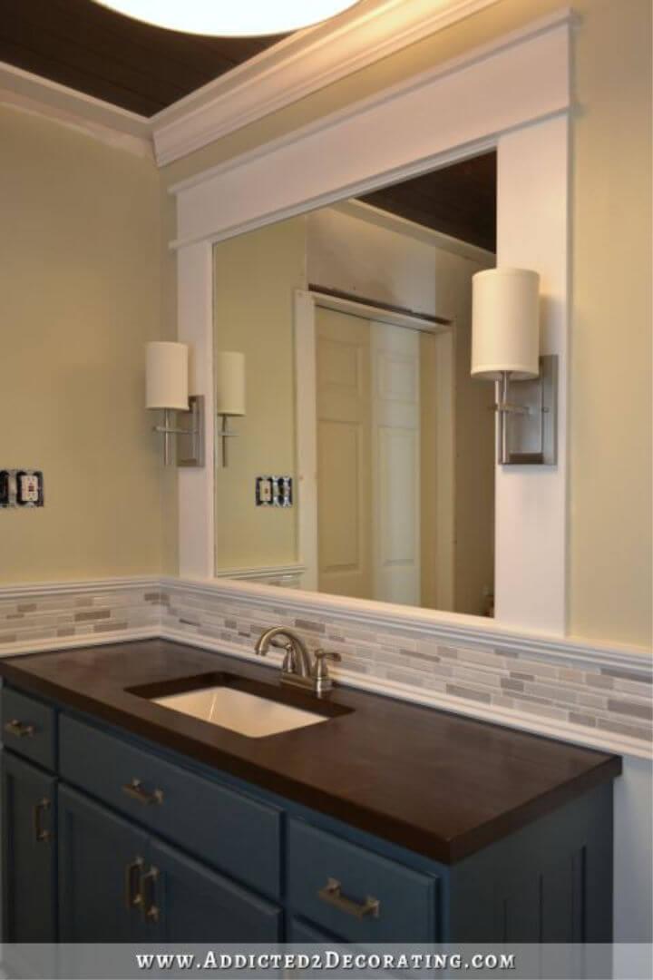DIY Vanity Mirror with Sconces