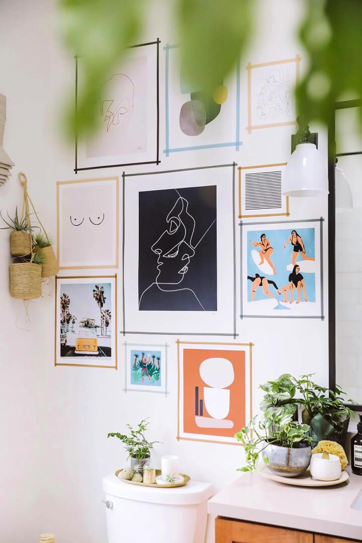 DIY Washi Tape Gallery Wall