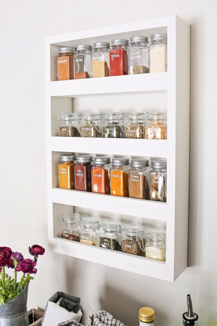 DIY Wooden Wall Spice Rack