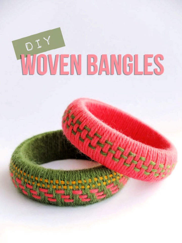 DIY Woven Yarn Bangles Fun Accessory