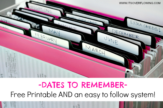 Dates to Remember 1