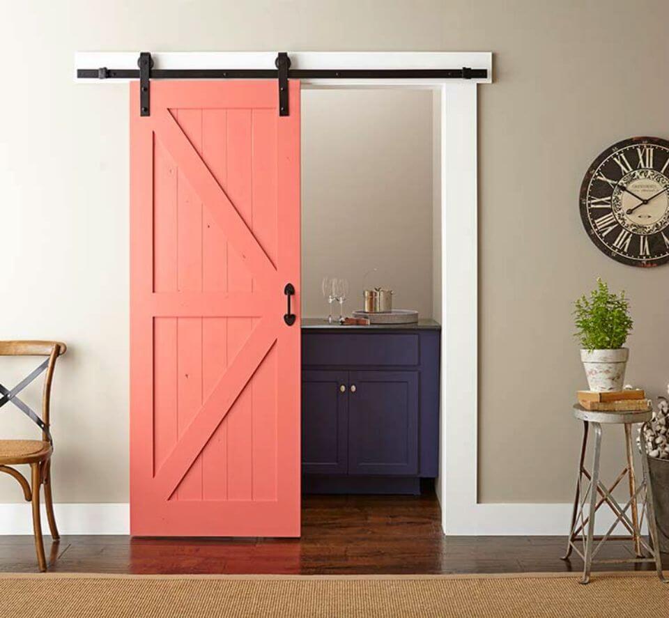 Easy DIY Barn Door Paint and Install