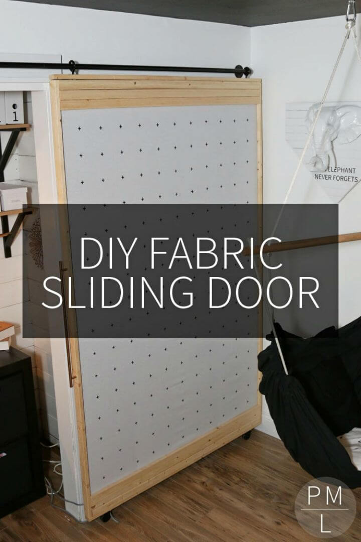 Easy DIY Fabric Sliding Door
