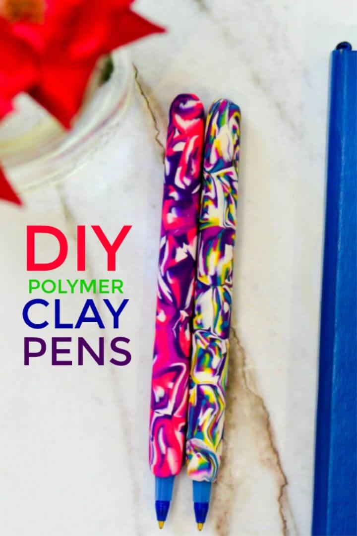 Easy DIY Marbled Pens