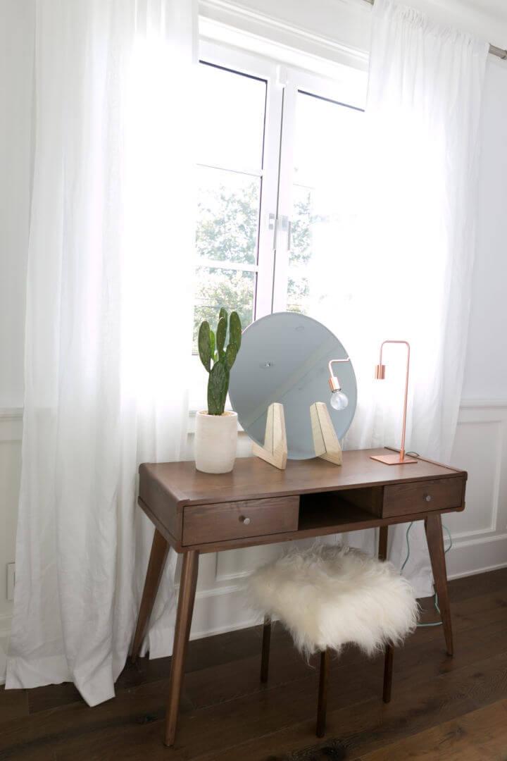 Easy DIY Minimalist Vanity Mirror