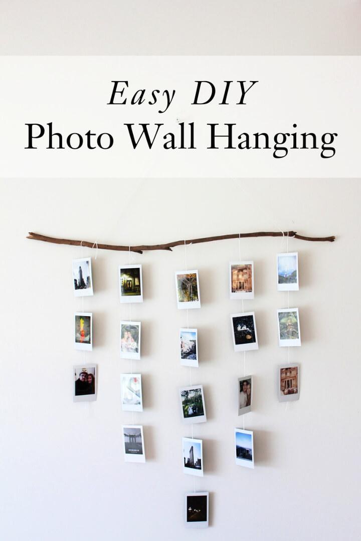 Easy DIY Photo Wall Hanging