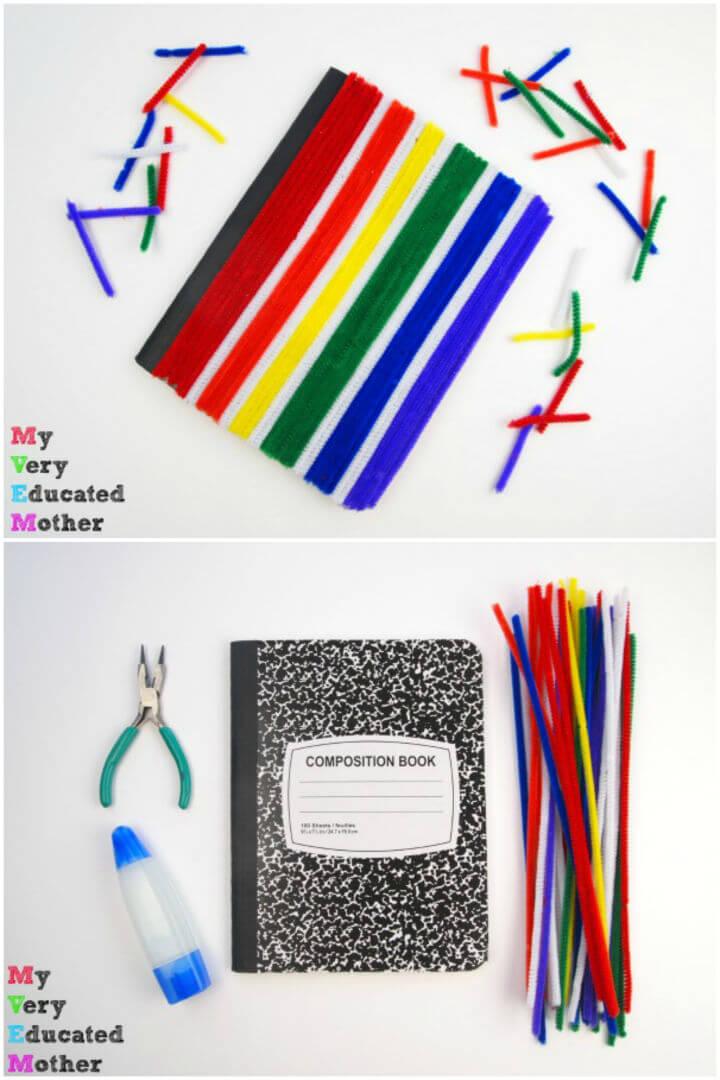 Easy DIY Pipe Cleaner Notebook