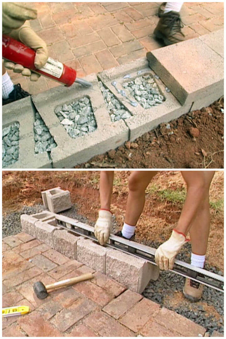 Easy DIY Retaining Wall