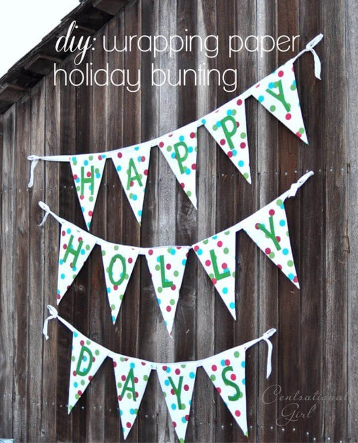 Easy DIY Wrapping Paper Bunting
