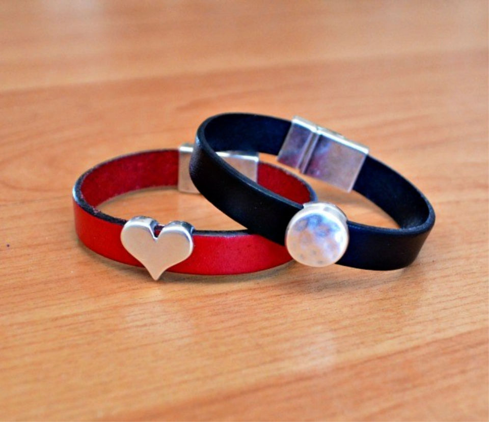 Easy Leather Cuff Bracelets