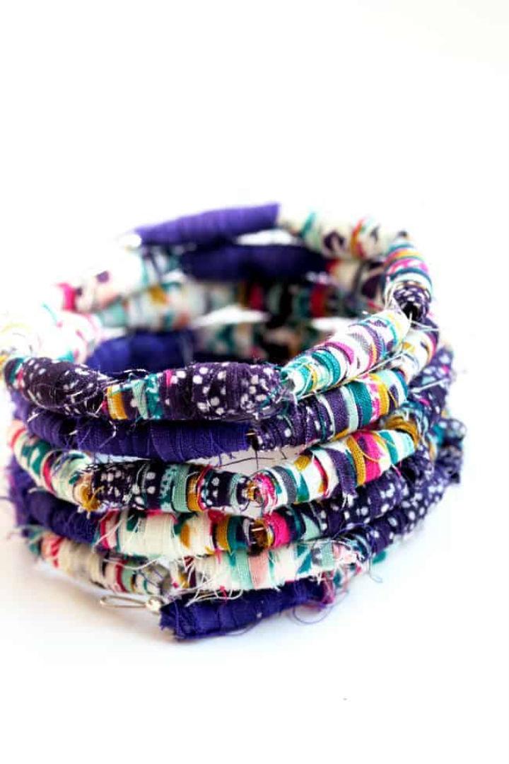 Fabric Bead Bracelet Pattern