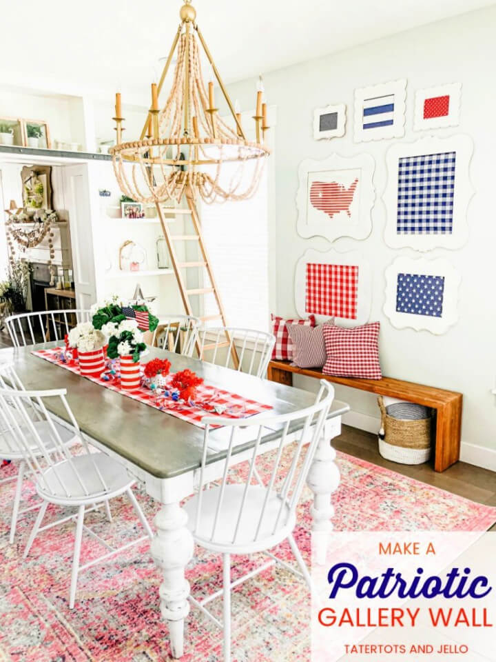 Fourth Of July Red White and Blue Gallery Wall