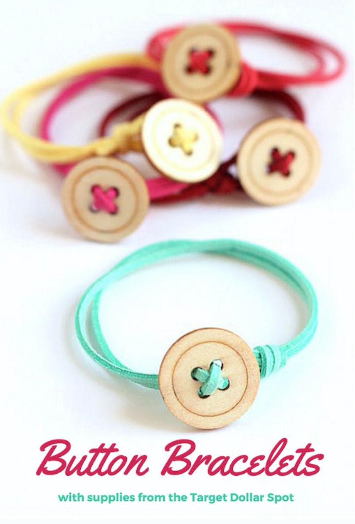 Free Button Bracelet Pattern