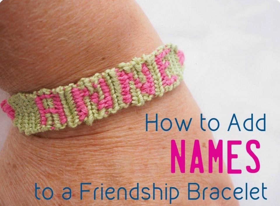 Friendship Bracelets With Names