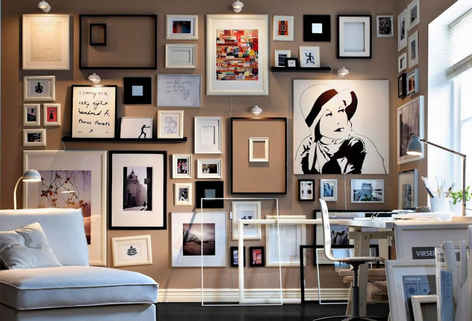 Gallery Wall Out Of Frames