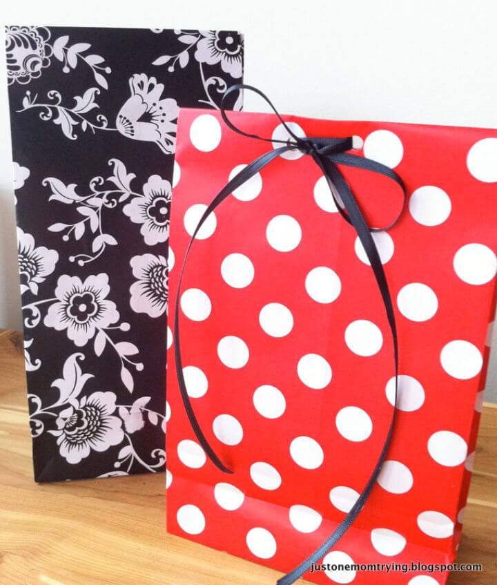 Gift Bags from Wrapping Paper