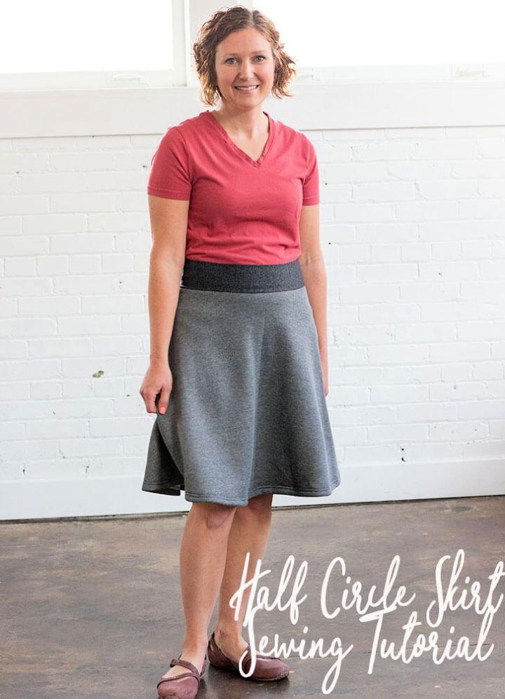 Half Circle Skirt Pattern With Yoga Waistband