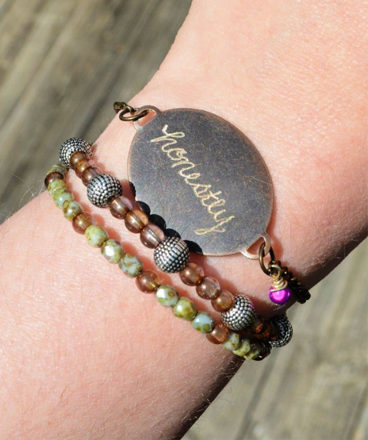 Hand Engraved Bracelet Free Pattern