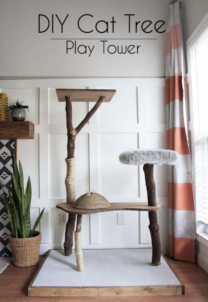 Handmade Cat Tree Play Tower
