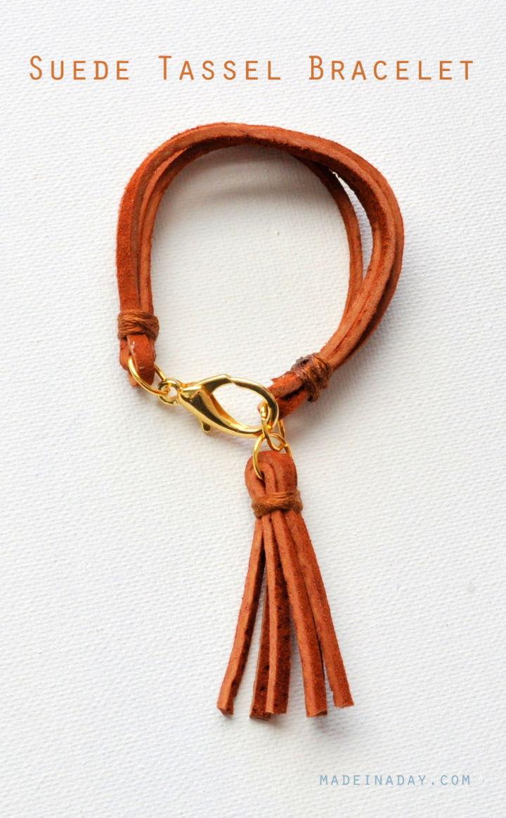 Handmade Leather Tassel Bracelet