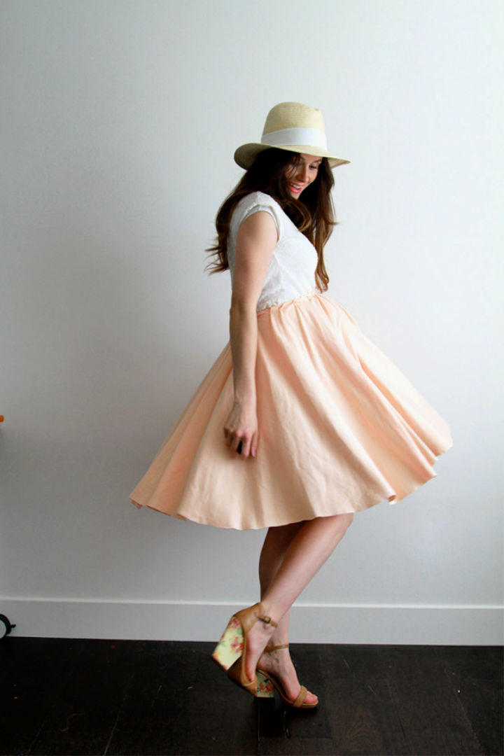 Handmade Maternity Circle Skirt