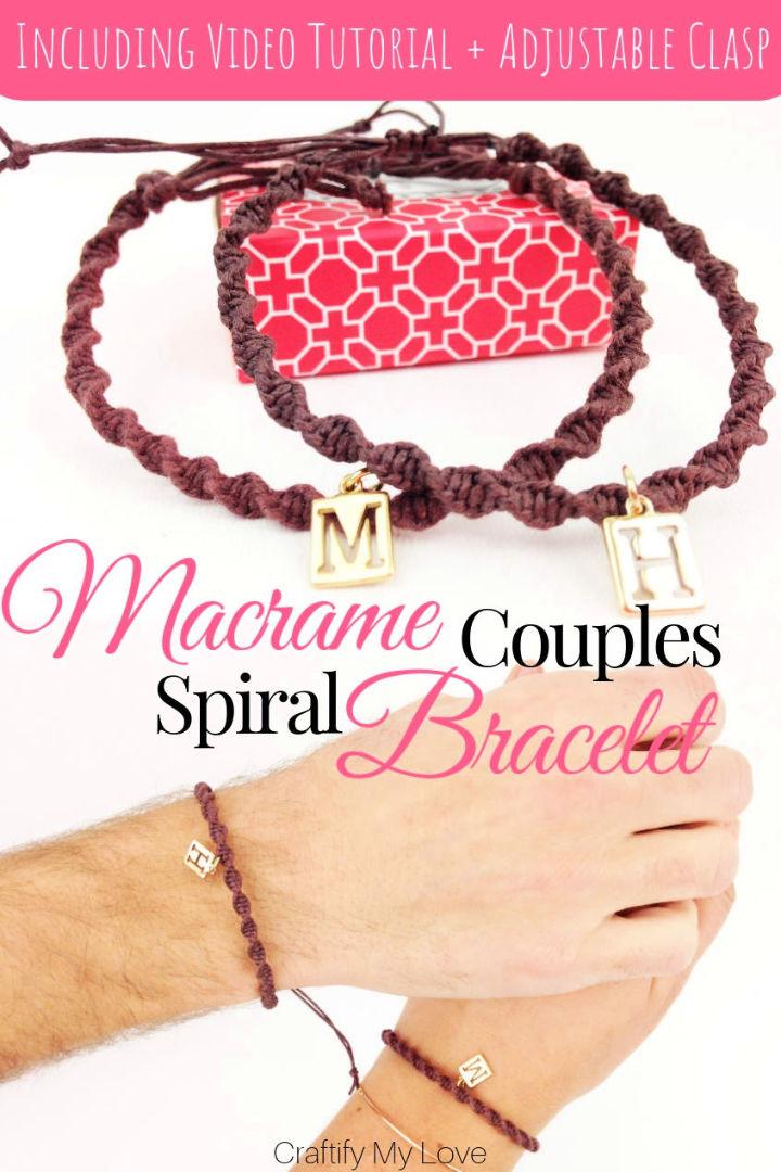 Homemade Macrame Spiral Bracelet