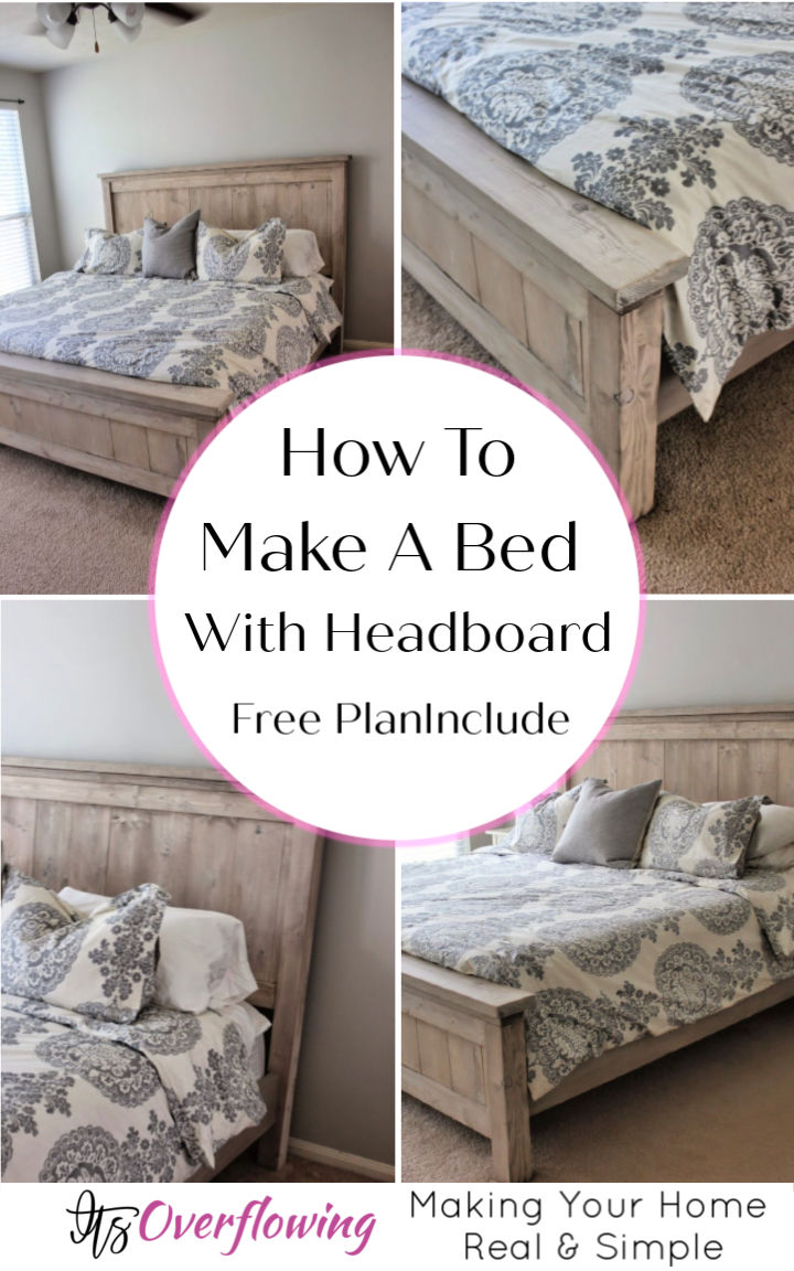 How To Make A Bed With Headboard Free Plan