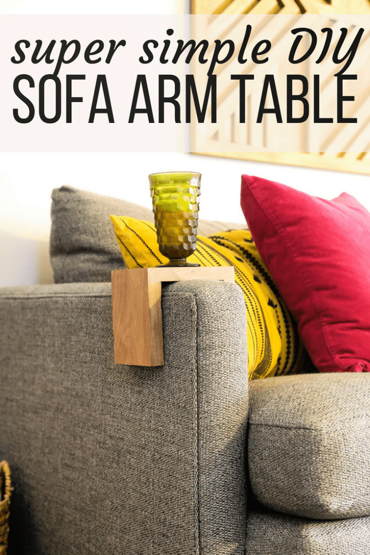 How to Build a Sofa Arm Table