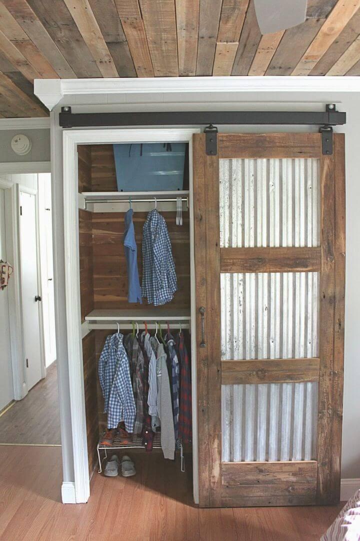 How to Make Closet Barn Door
