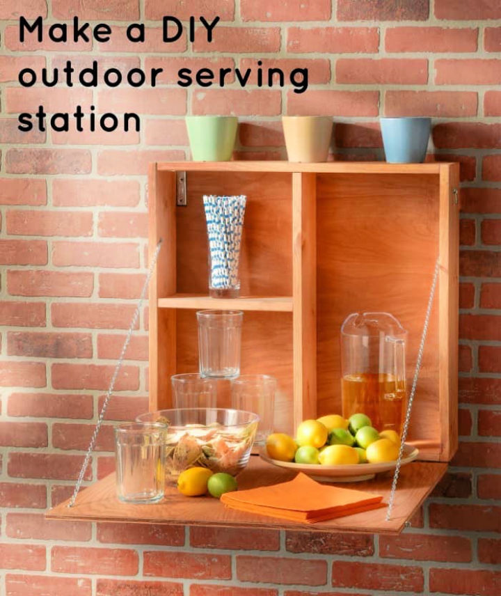 How to Make Outdoor Serving Station