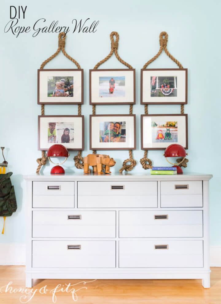 How to Make Rope Gallery Wall