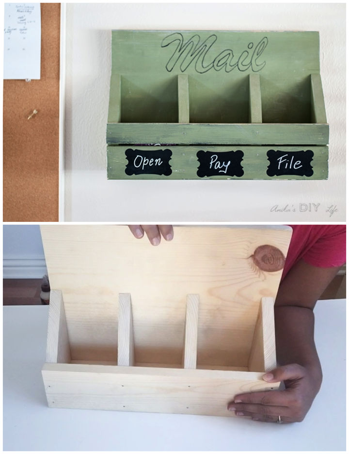 How to Make Wall Mail Organizer