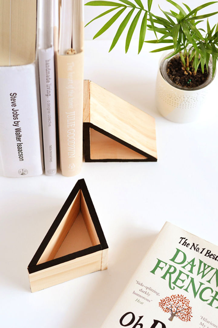 How to Make Wood Triangle Bookends