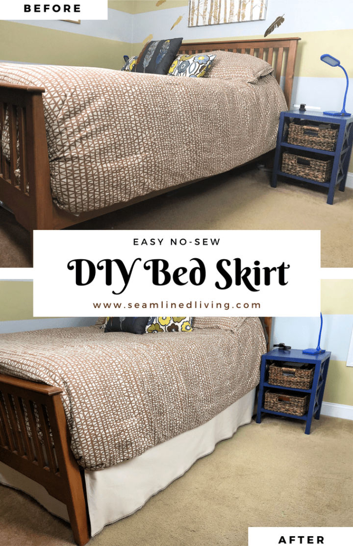 20 Easy Diy Bed Skirts Tutorial To Make Your Own Bed Skirt
