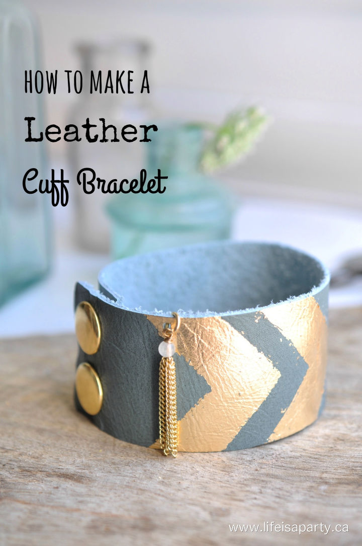 How to Make a Leather Cuff Bracelet