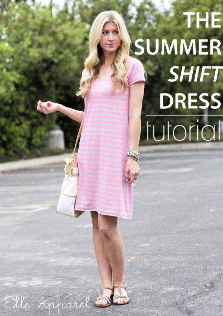 How to Sew Summer Shift Dress Free Pattern