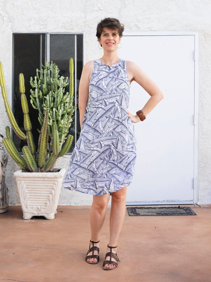 How to Sew a Tropical Swing Dress