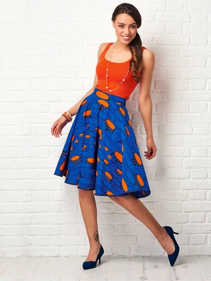 How to Sew a Wax print Circle Skirt