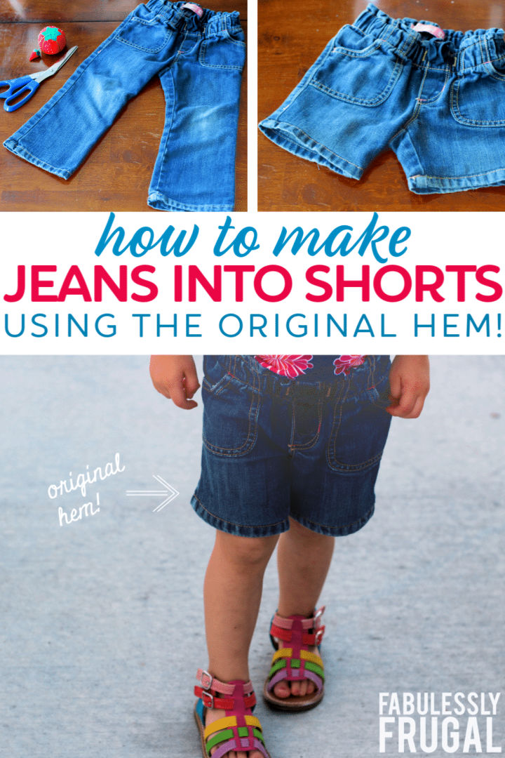How to Turn Jeans Into Shorts