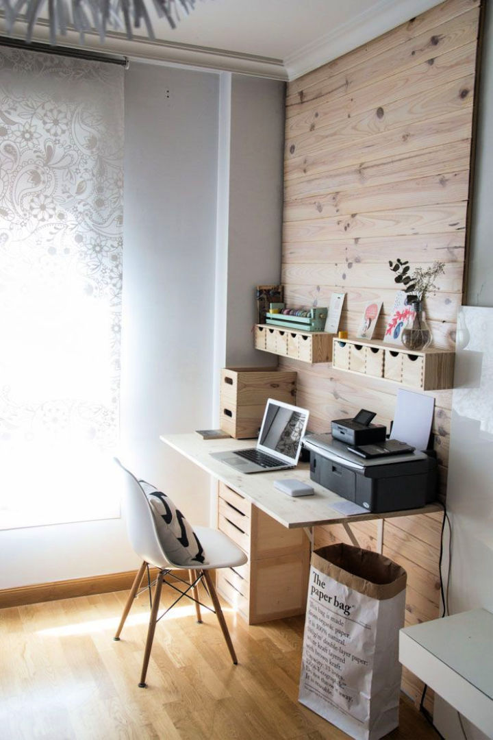 IKEA Desk Hack for Home Work Space