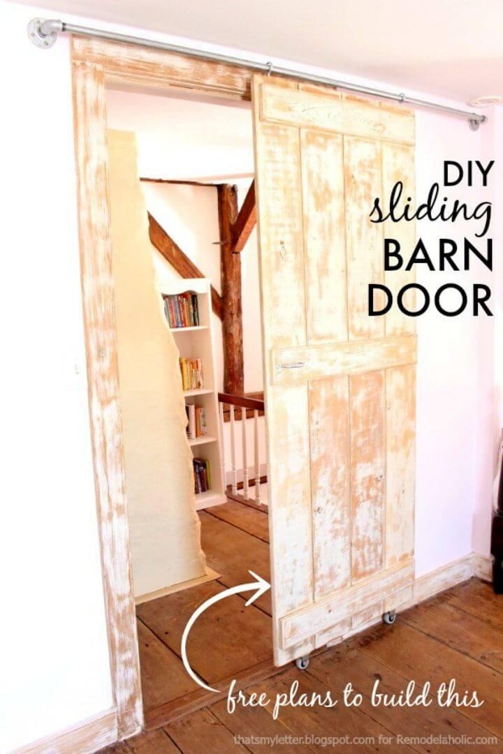 Inexpensive DIY Sliding Barn Door